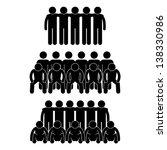 people man team group teammate... | Shutterstock .eps vector #138330986