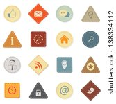 web icons  retro style | Shutterstock .eps vector #138334112