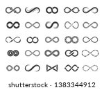 eternity icon. mobius line... | Shutterstock .eps vector #1383344912