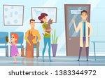 professional veterinarian. pets ... | Shutterstock .eps vector #1383344972