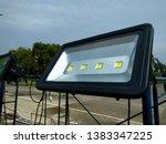 led spotlight with a dark blue... | Shutterstock . vector #1383347225