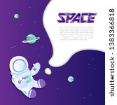 space exploring template.... | Shutterstock .eps vector #1383366818