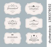 vintage label banner badges set.... | Shutterstock .eps vector #1383378032