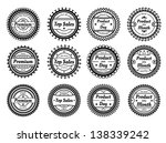 high quality round labels | Shutterstock . vector #138339242