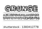 modern abstract font  set of... | Shutterstock .eps vector #1383412778