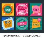 sale web banner for social... | Shutterstock .eps vector #1383420968
