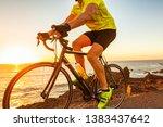 bike race at sunset road biking ... | Shutterstock . vector #1383437642