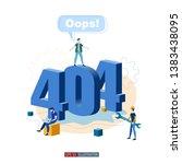 trendy flat illustration.... | Shutterstock .eps vector #1383438095