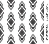 tribal seamless pattern. black... | Shutterstock .eps vector #1383438548