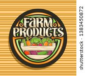 vector logo for farm products ... | Shutterstock .eps vector #1383450872
