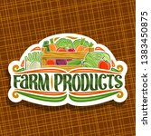 vector logo for farm products ... | Shutterstock .eps vector #1383450875