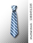 striped tie with soft shadow on ... | Shutterstock .eps vector #1383451235