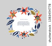 botanical text circle hand... | Shutterstock .eps vector #1383454778