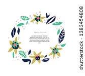 botanic text circle hand drawn... | Shutterstock .eps vector #1383454808