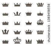 crown icons. queen king crowns... | Shutterstock .eps vector #1383458558