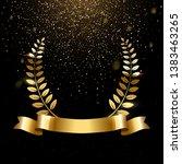 realistic gold laurel wreath... | Shutterstock .eps vector #1383463265