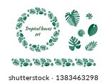 set of different tropical... | Shutterstock .eps vector #1383463298