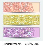 vector set of ornamental banners | Shutterstock .eps vector #138347006