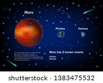 mars  red planed and two very... | Shutterstock .eps vector #1383475532
