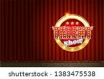talent show vector poster...   Shutterstock .eps vector #1383475538
