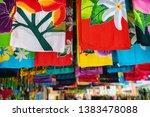 sarong skirts shop at city... | Shutterstock . vector #1383478088