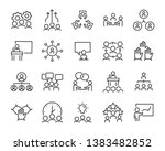 set of business people icons ... | Shutterstock .eps vector #1383482852