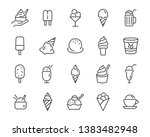 set of ice cream icons  such as ... | Shutterstock .eps vector #1383482948