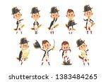 napoleon bonaparte cartoon... | Shutterstock .eps vector #1383484265