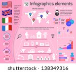 set of infographics elements.... | Shutterstock .eps vector #138349316