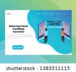 isometric artwork concept of... | Shutterstock .eps vector #1383511115