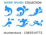 splash water icon flat and... | Shutterstock .eps vector #1383514772