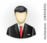 human template businessman with ... | Shutterstock .eps vector #1383518252