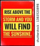 typographic text rise above the ...   Shutterstock . vector #1383520898