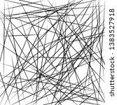 chaotic lines  random chaotic... | Shutterstock .eps vector #1383527918
