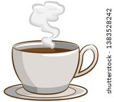 coffee cup vector clipart design | Shutterstock .eps vector #1383528242