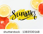 hello summer season grab fruit... | Shutterstock . vector #1383530168