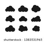 black clouds collection in flat ... | Shutterstock .eps vector #1383531965