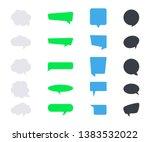 vector messages bubbles. speech ... | Shutterstock .eps vector #1383532022