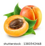 Apricot Isolated On White...