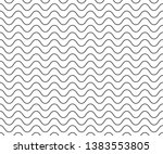 wave simple seamless wavy line  ...   Shutterstock .eps vector #1383553805
