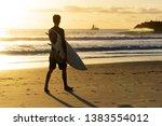 surfing at duranbah  nsw ... | Shutterstock . vector #1383554012