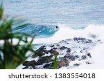 surfing at duranbah  nsw ... | Shutterstock . vector #1383554018