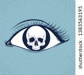 eye heart world dark... | Shutterstock .eps vector #1383563195