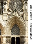 Facade Of Cathedral Notre Dame...