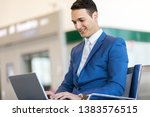 young businessman working with... | Shutterstock . vector #1383576515