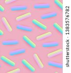 seamless pattern with pink... | Shutterstock .eps vector #1383576782