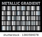 metallic gradients. silver foil ... | Shutterstock .eps vector #1383584078