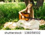 Hippie Ethnic Smiling Girl...