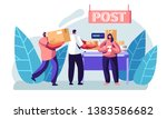 people visiting post office.... | Shutterstock .eps vector #1383586682
