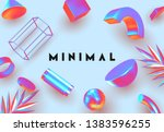 objects 3d shape vector minimal ... | Shutterstock .eps vector #1383596255